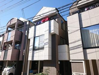 目黒区で棟板金交換工事と屋根・外壁塗装を行った3階建て邸宅 工事竣工