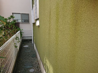 色褪せや汚れが目立つ外壁