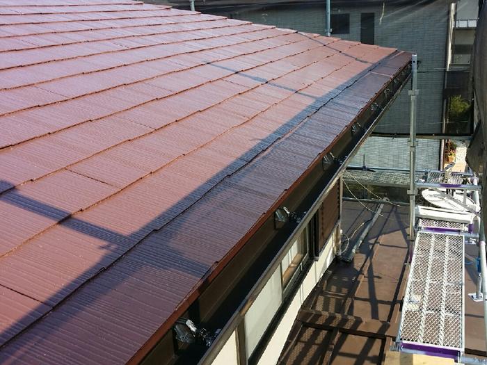 サーモアイで屋根塗装