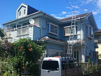屋根葺き替えと外壁塗装前