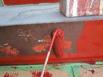 錆止め塗料を塗装