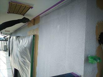 葛飾区金町で行った外壁塗装工事でナノコンポジットWで中塗りを実施