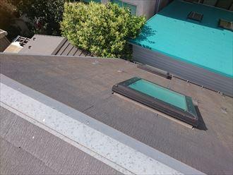 屋根面での雹害の違い