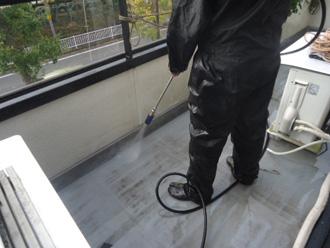 ウレタン防水工事 高圧洗浄