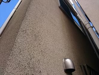 モルタル吹付けの外壁です