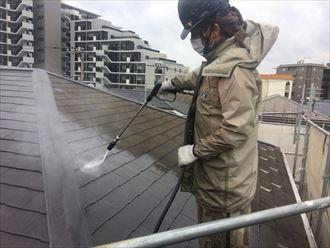 屋根外壁塗装,高圧洗浄