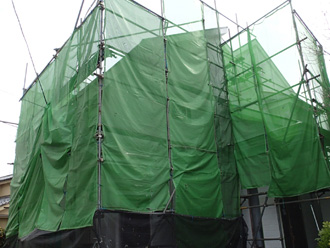 江戸川区 外壁塗装 足場架設