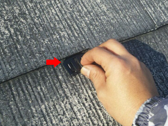 江戸川区 屋根塗装 タスペーサーで縁切り