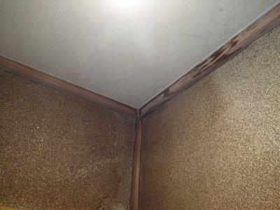 お部屋の雨漏り跡