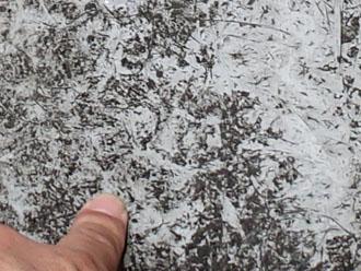 バルコニー床面の傷