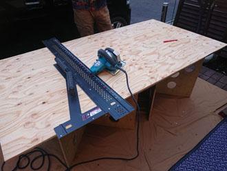 構造用合板の加工