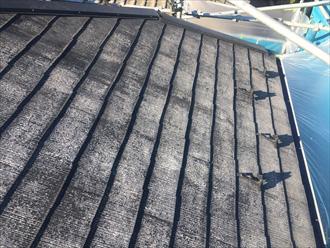 高圧洗浄後の白い屋根