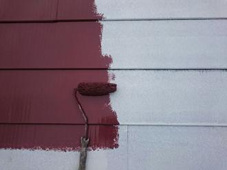 屋根面への中塗り