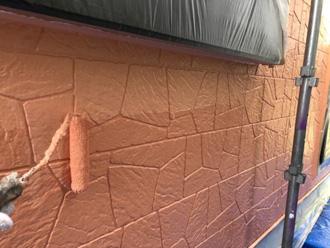 パーフェクトトップで1階外壁を上塗り