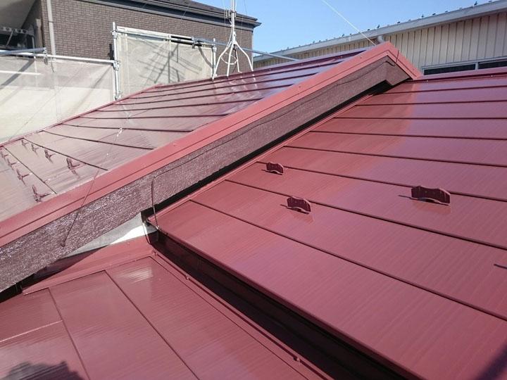 竣工、遮熱塗料を使った屋根塗装