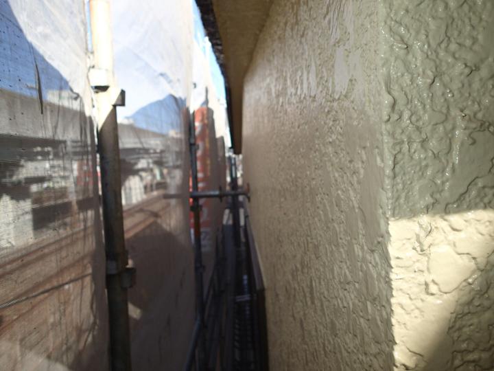 上塗りで済んだ外壁塗装