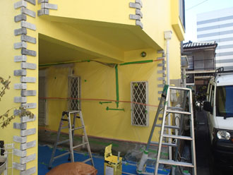 車庫の塗装、完了
