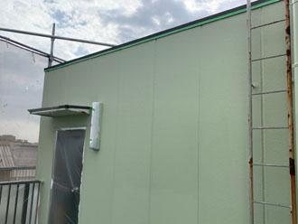 塔屋の外壁塗装完了