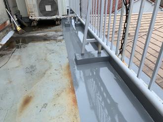 排水口部分防水工事完成