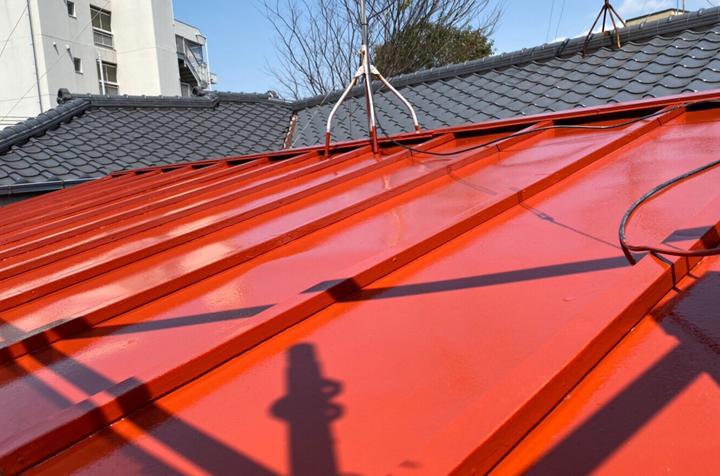 竣工、屋根塗装